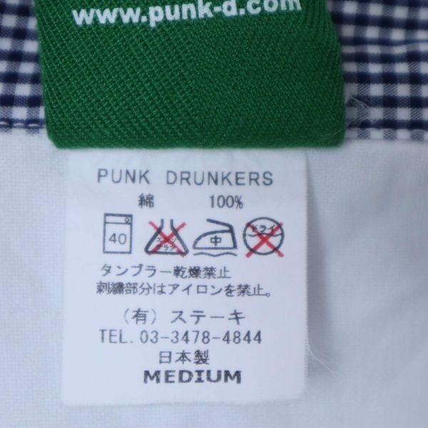 PUNK DRUNKERS パンクドランカーズ 通年 刺繍 長袖 シャツ Sz.M メンズ 日本製 白 E1T01042_4#C_画像6