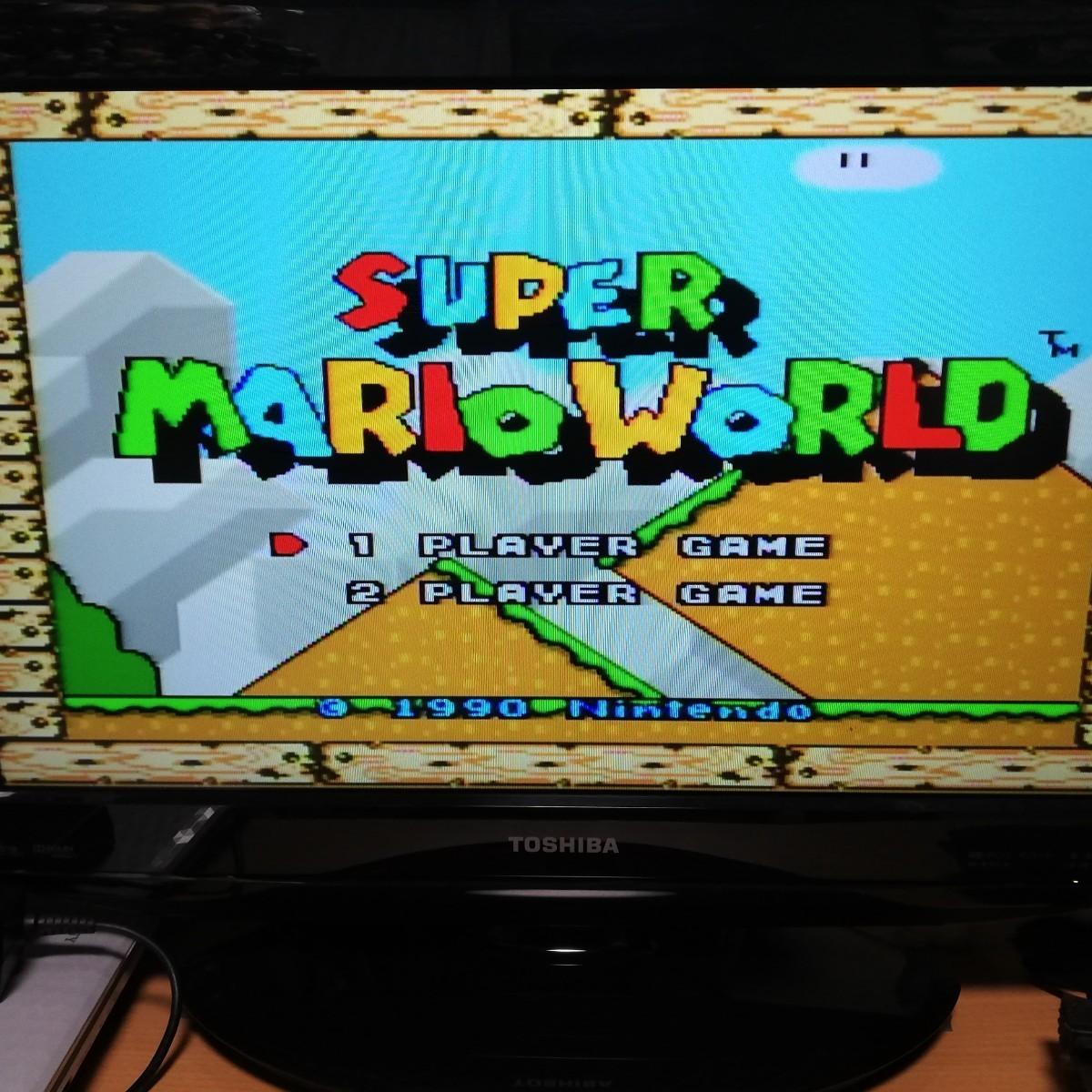 スーパーファミコンソフト スーパーマリオワールド スーパーマリオカート