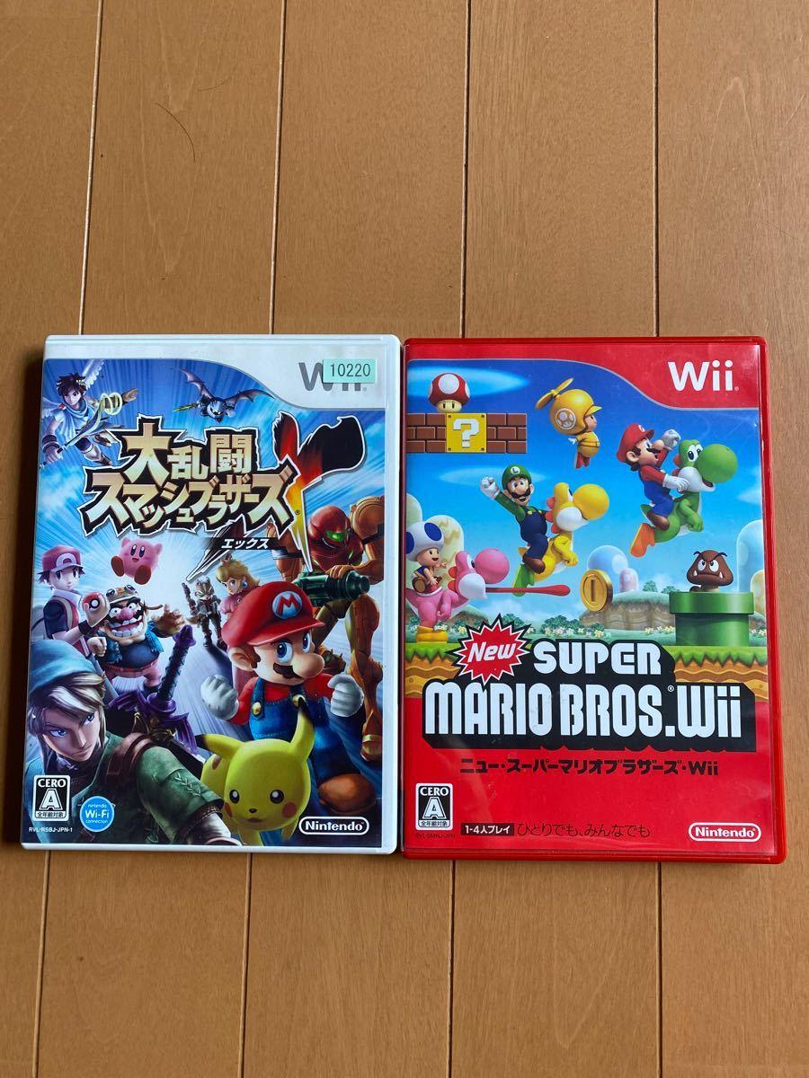 Wii 大乱闘スマッシュブラザーズ ニュースーパーマリオブラザーズWii Wiiソフト