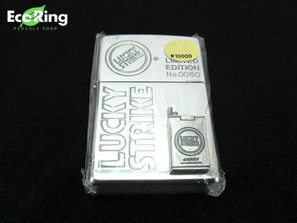 1円 未使用 ラッキーストライク アシュトレイ付き 喫煙具 ライター AQ706