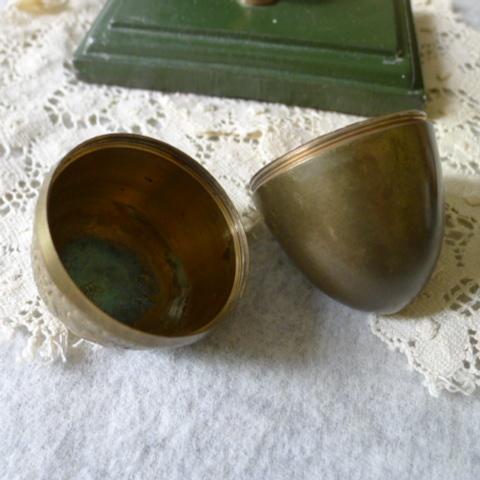 【貴重】英国アンティーク 真鍮製 アンティーク イースターエッグ イギリス雑貨_画像6