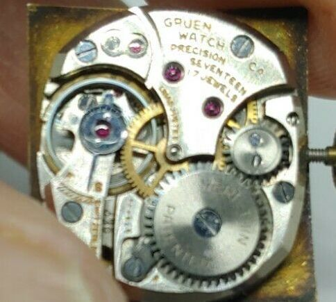 【貴重】◎/グリュエン/GRUEN/ゴールド/1950's/アンティーク/Veri-Thin/10K/スクエア/手巻/金張/ベリシン/メンズ腕時計/アメリカ/送料無料_画像10
