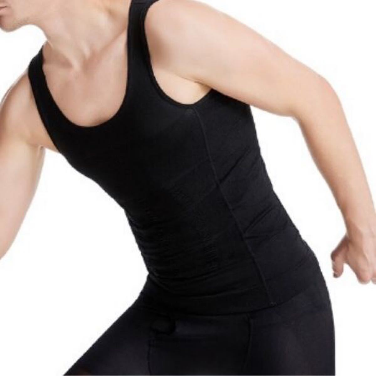 Mサイズ 加圧シャツ ブラック 体型維持 タンクトップ 加圧インナー 黒色