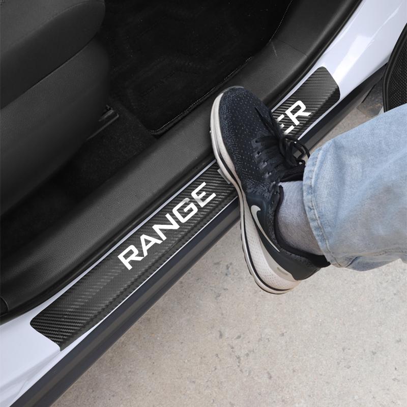 送料無★ ランドローバーレンジプロテクターステッカー プロテクター ステッカー カーボンファイバー ドア ランドローバーレンジ セット_画像1