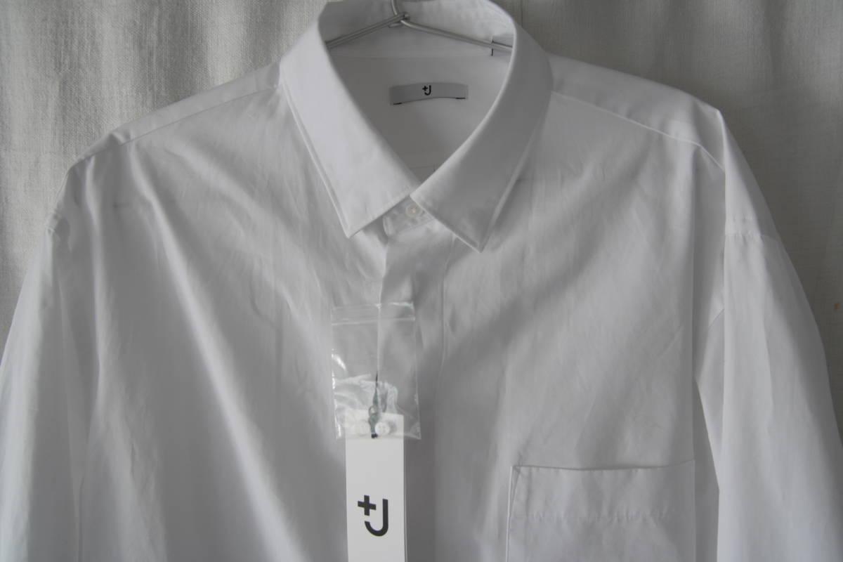 新品未使用 +J プラスジェイ スーピマコットンオーバーサイズシャツ(長袖) サイズM_画像1