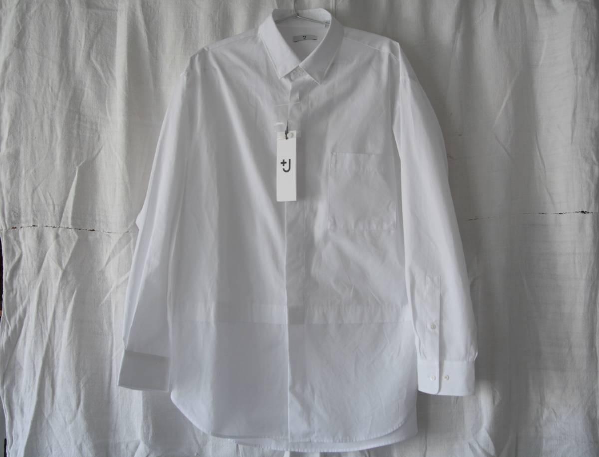 新品未使用 +J プラスジェイ スーピマコットンオーバーサイズシャツ(長袖) サイズM_画像2