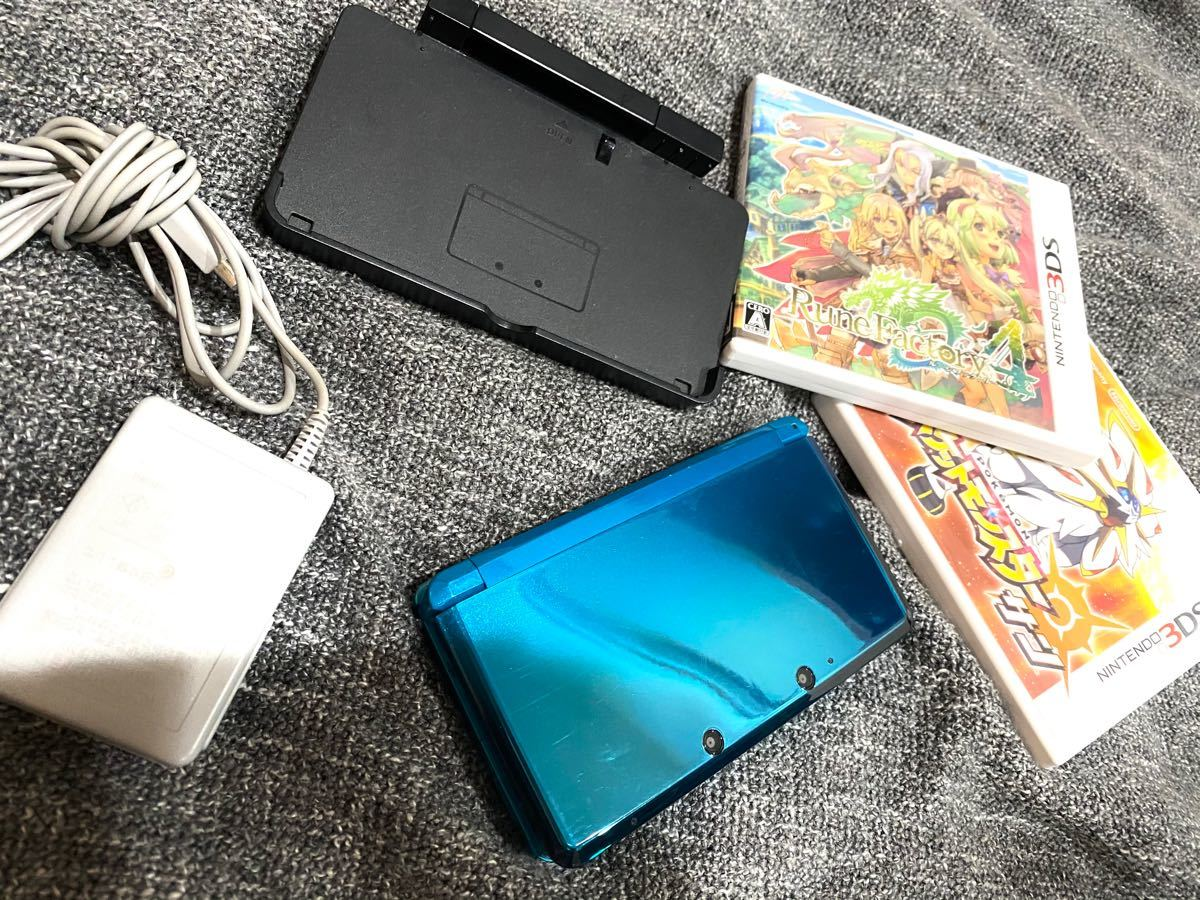ニンテンドー3DS セット(本体・充電器・カセット3種)