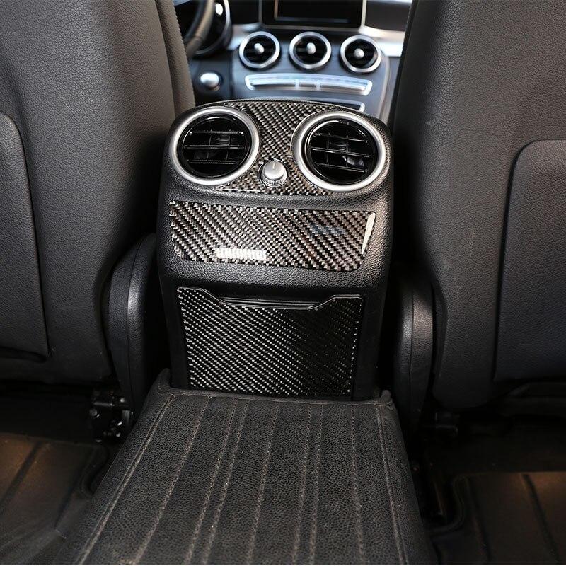メルセデス ベンツCクラスW205 C180 16-19リアルカーボンファイバー車外ドア敷居プロテクタープレートカバー3Dステッカー_画像5