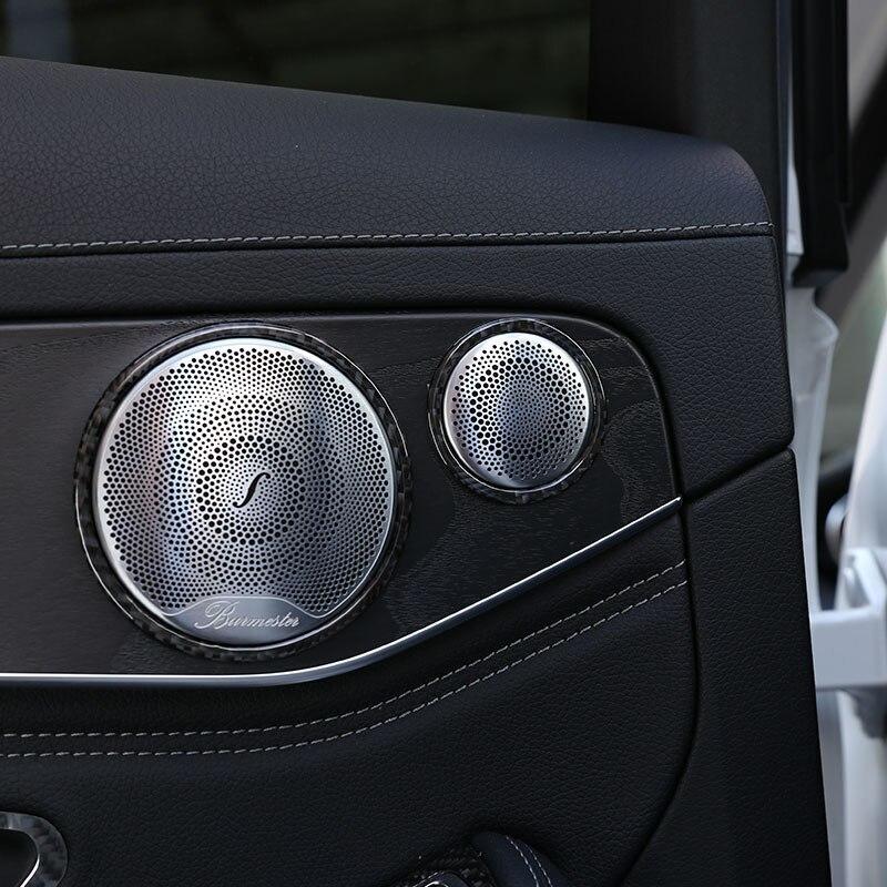 メルセデス ベンツCクラスW205 C180 16-19リアルカーボンファイバー車外ドア敷居プロテクタープレートカバー3Dステッカー_画像6