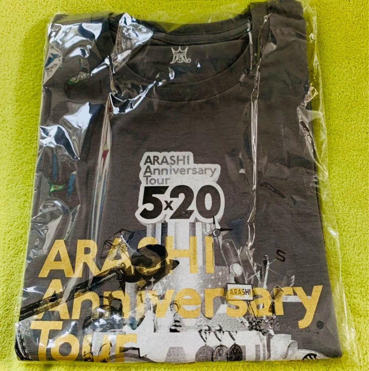 嵐  5×20 Anniversary tourコンサートグッズ 半袖Tシャツ 【グレー】