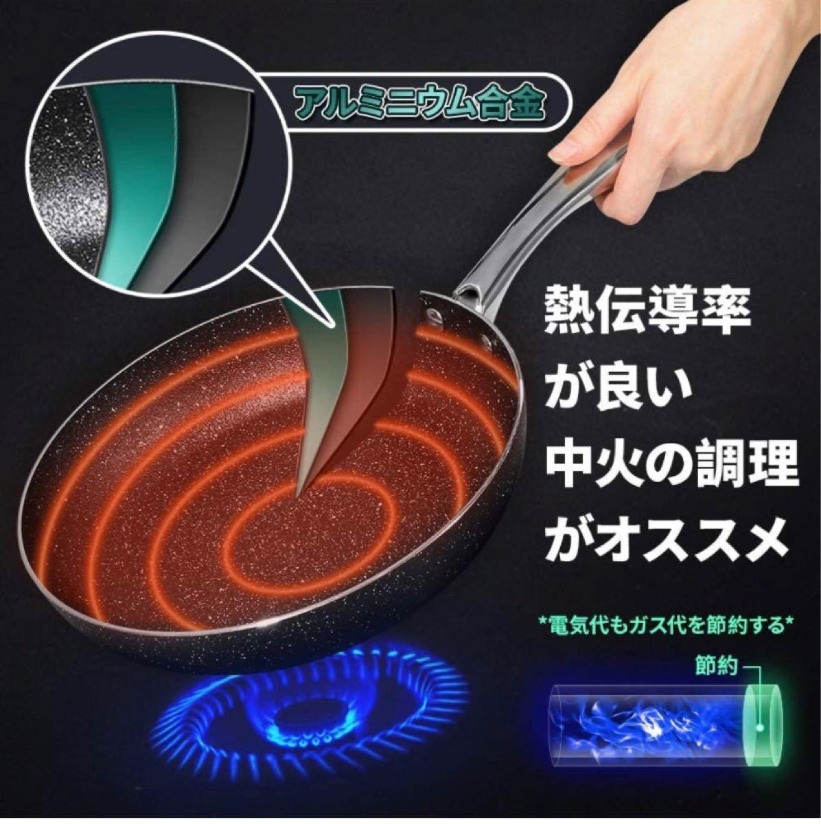 【フライパン+まな板セット価格】フライパン 24cm IH ガス対応 +まな板