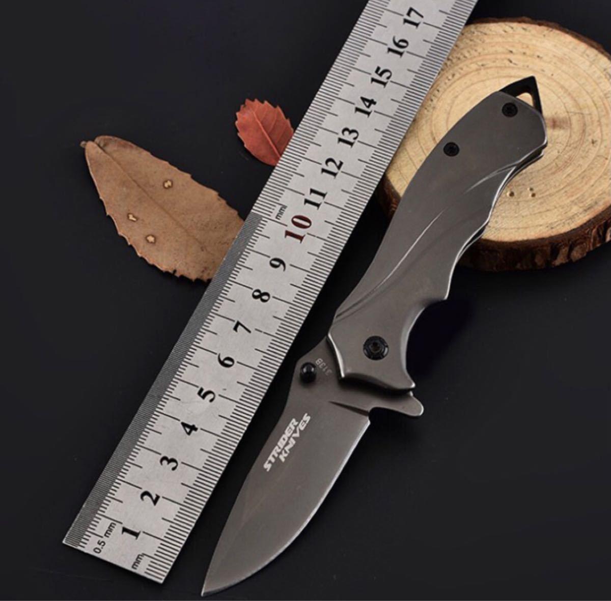 アウトドア ナイ 折畳式ポケット 多機能ナイフ シートベルトカッター 便利携帯ナイフ 木を切り 登山 キャンプ 釣り 防災用グレー