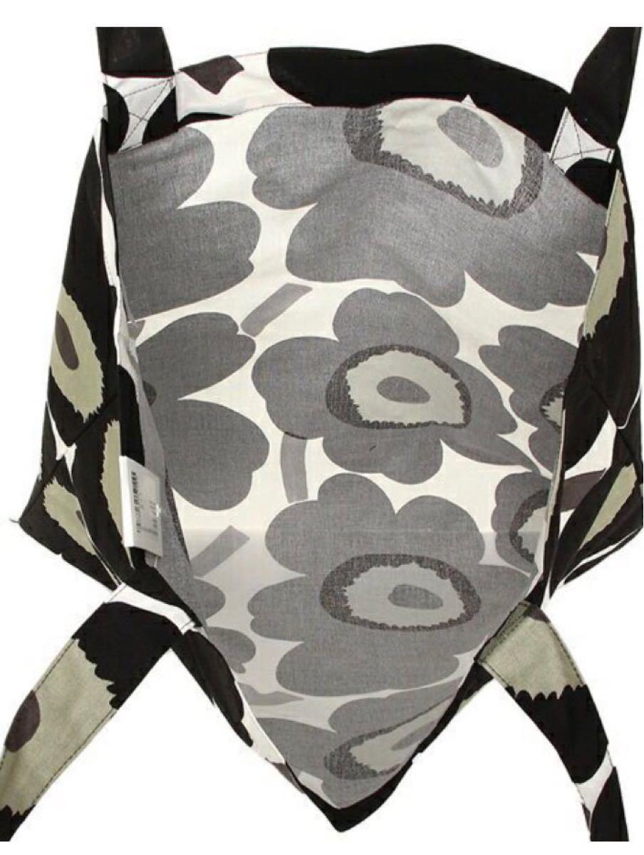 【新品・未使用】マリメッコ  トートバッグ エコバッグ ブラック×ホワイト