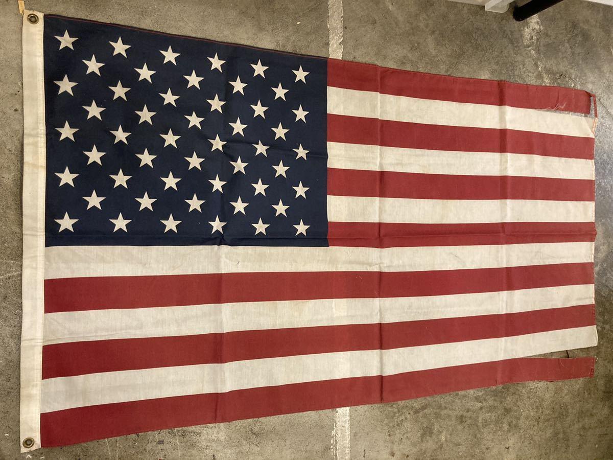 ビンテージUSAフラッグ星条旗4西海岸サーフスケートバイカー軍モノミリタリーカリフォルニアウトドアメリカントリー車ガレージ世田谷ベース_画像1