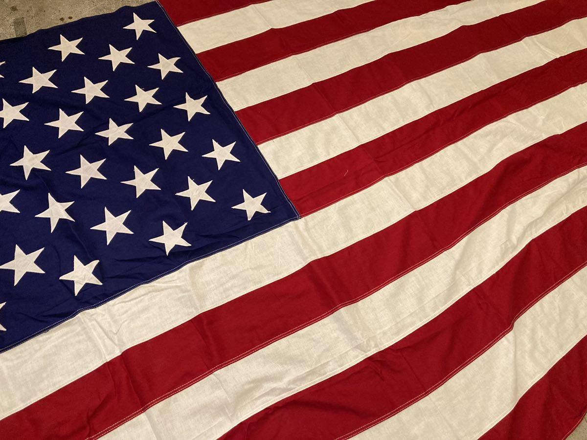 ビンテージUSA特大フラッグ星条旗3西海岸サーフスケートバイカー軍ミリタリーカリフォルニアウトドアメリカントリー車ガレージ世田谷ベース_画像2