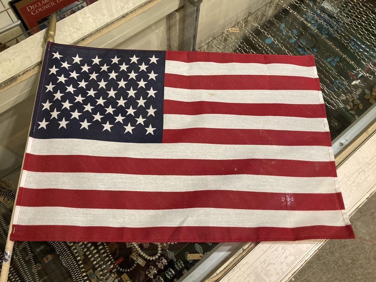 USA製フラッグ30×46-H80cm星条旗2pキャンプ西海岸サーフバイカーミリタリーカリフォルニアウトドアメリカントリー車ガレージ世田谷ベース_画像2