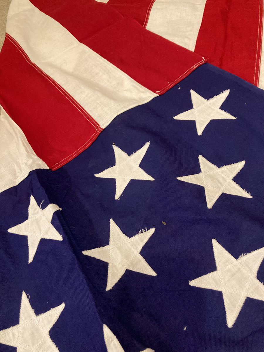 ビンテージUSA特大フラッグ星条旗3西海岸サーフスケートバイカー軍ミリタリーカリフォルニアウトドアメリカントリー車ガレージ世田谷ベース_画像6