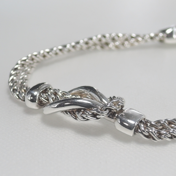 1円 Tiffany&Co.【ティファニー ブレスレット】W ロープ ブレス SV925 シルバー 銀 ロープ フック デザイン