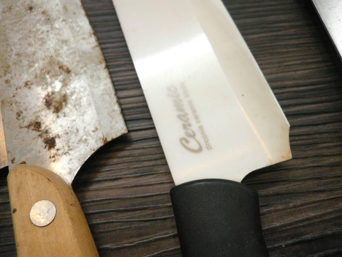 192n 100【ジャンク】包丁 調理包丁 料理包丁 ペティナイフ 大量 40本まとめて_画像10