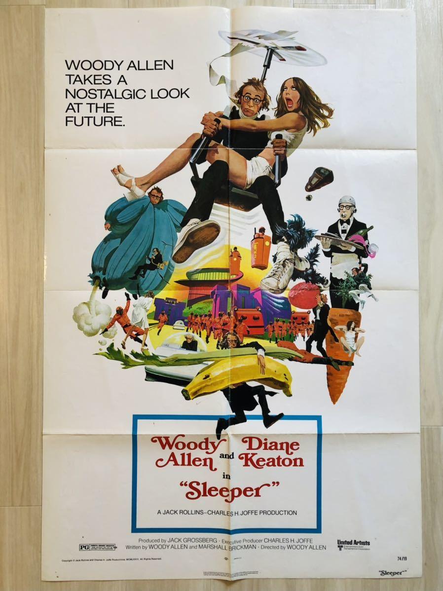 「スリーパー」(1973) 映画ポスター USA版 ワンシート オリジナルポスター アメリカ版ポスター ウディ・アレン、ダイアン・キートン