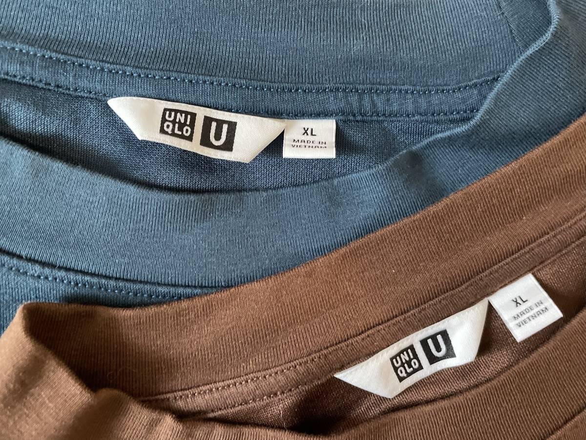 美中古 UNIQLO ユニクロ エアリズムコットンオーバーサイズTシャツ(5分袖) エアリズム Tシャツ XL_画像2