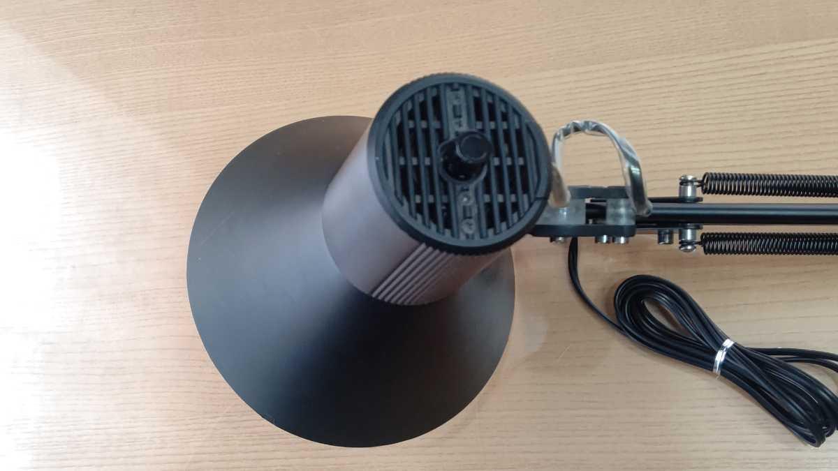 山田照明 yamada Z-Light ゼットライト Z-108 ブラック 黒 デスクスタンドライト ランプ 中古 良品 送料無料 即決_画像8