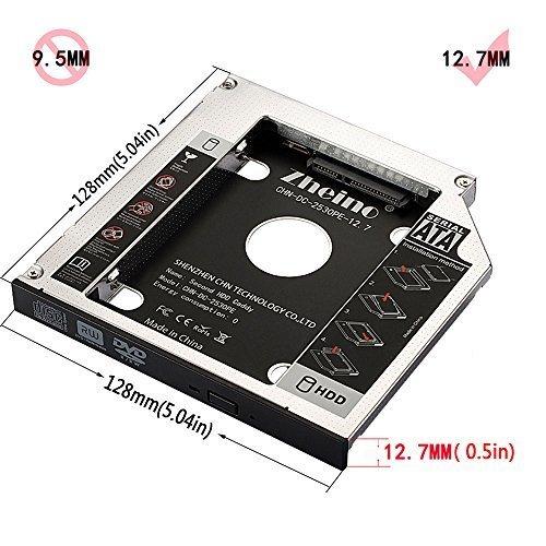 色CHN-DC-2530PE-12.7 Zheino 2nd 12.7mmノートPCドライブマウンタ セカンド 光学ドライブベイ用_画像7