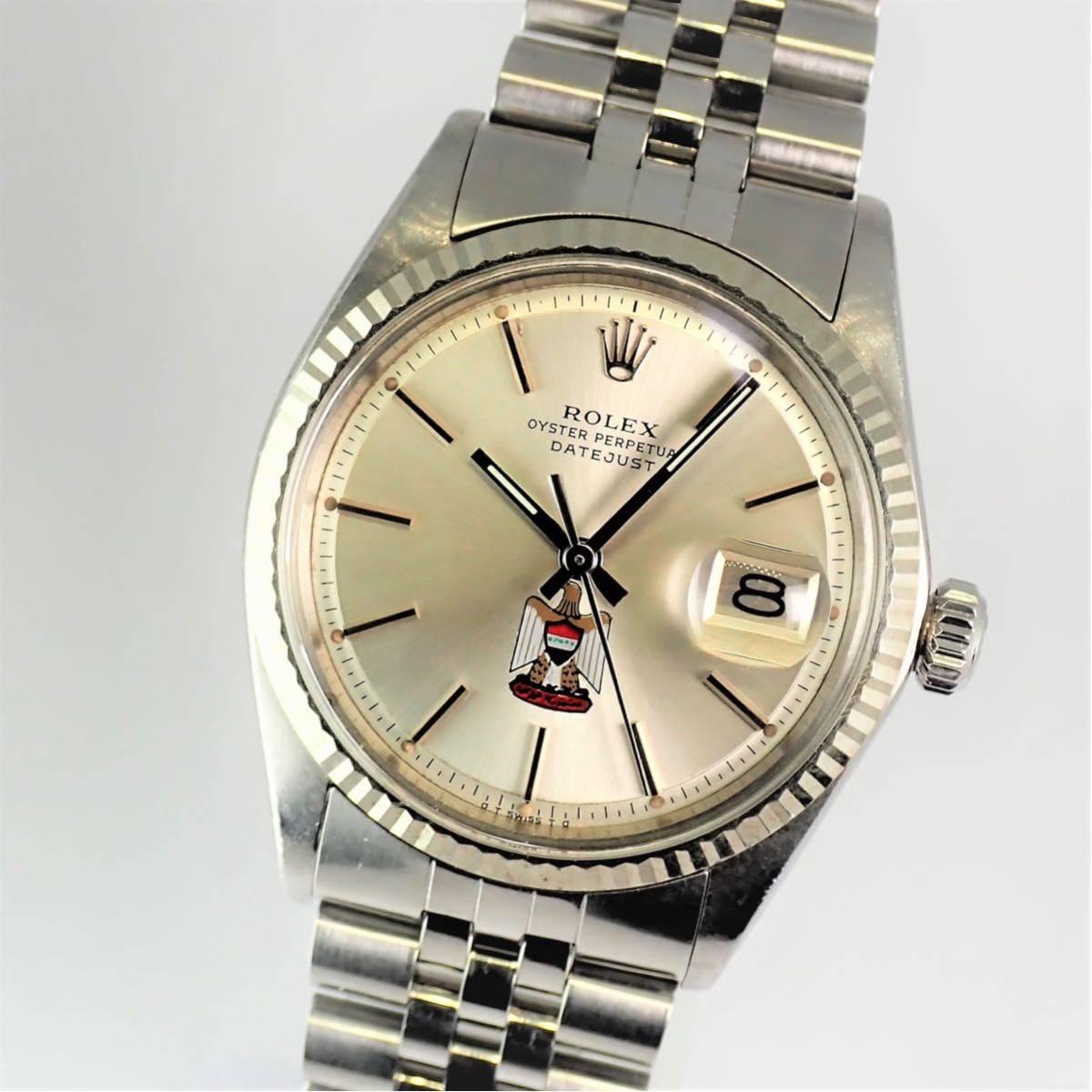 極希少・保証付き UAE文字盤 ロレックス デイトジャスト 1601 純正品 極美品 36mm メンズ 自動巻き 腕時計