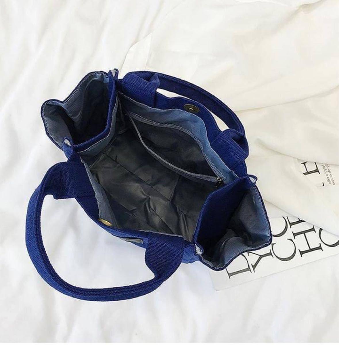 ミニバッグ トートバッグ 手提げ サブバッグ ブラック 大容量 ミニトート キャンバストート コンパクト サイドポケット 軽量