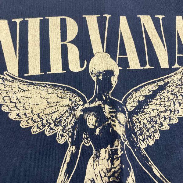 Made in USA 90s VTG NIRVANA IN UTERO 長袖 Tシャツ ロンT KURT COBAIN カートコバーン ニルヴァーナ hole sonic youth_画像3
