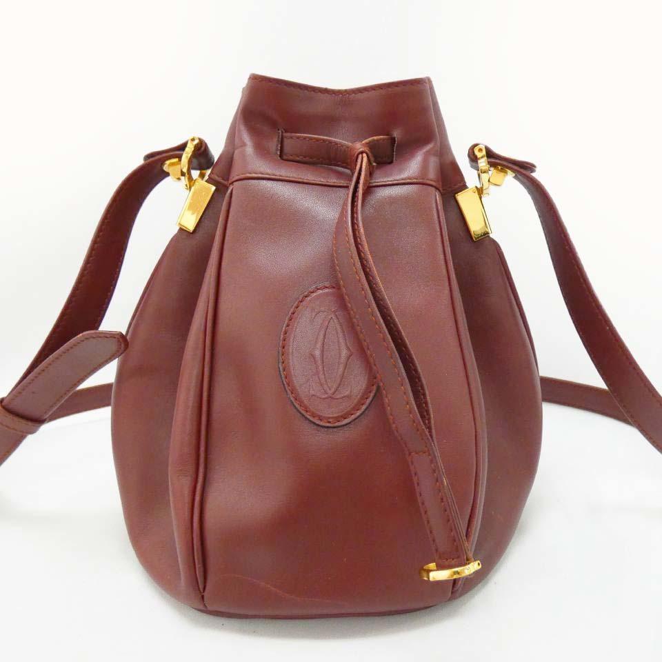 Cartier Cartier mast line диагональная подвесная сумка через плечо pochette Кожаная сумка бордового цвета r504-77 или Cartier & сумка, сумка