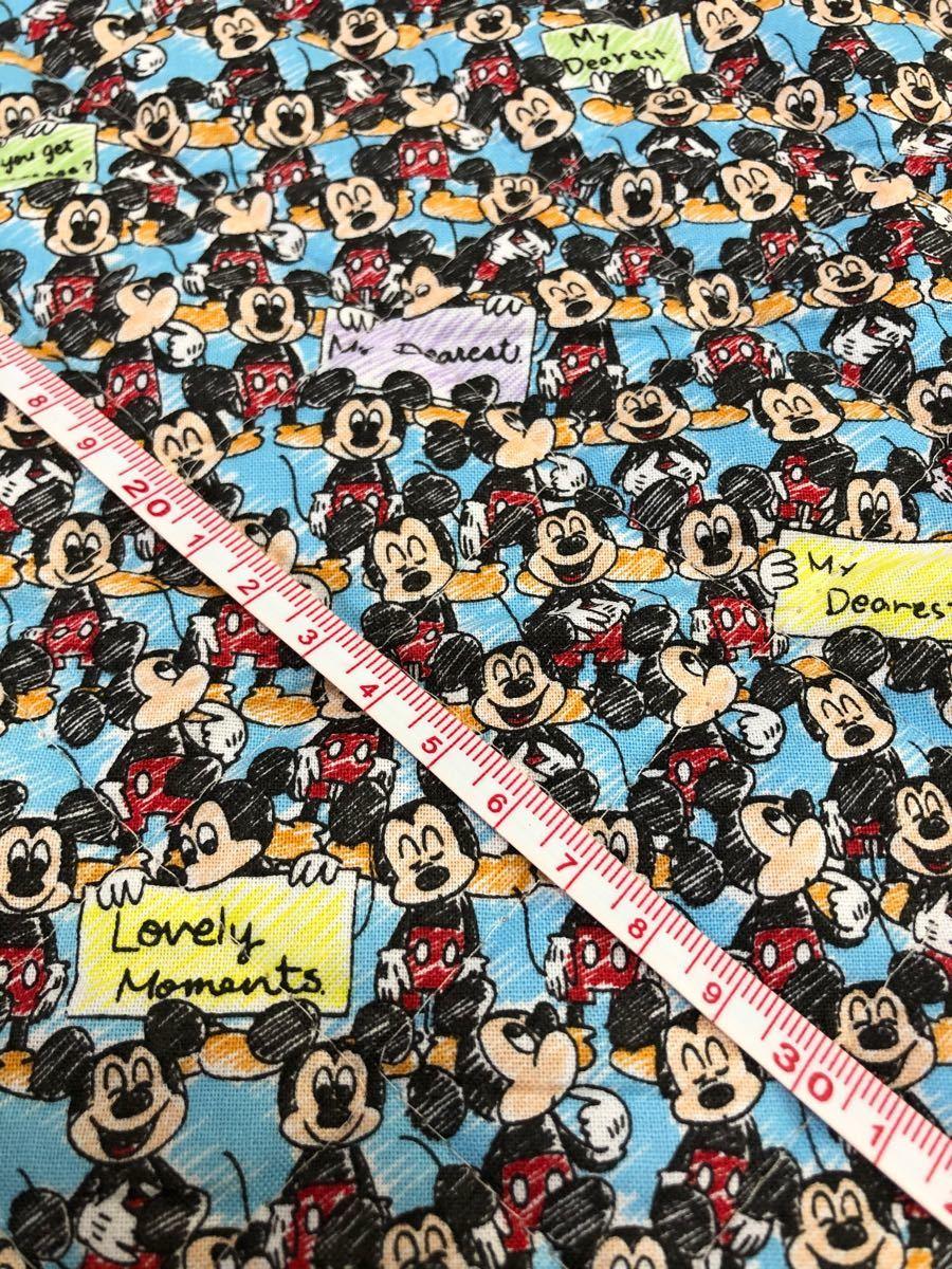 キルティング ミッキー mickey ディズニー Disney 生地 ハギレ
