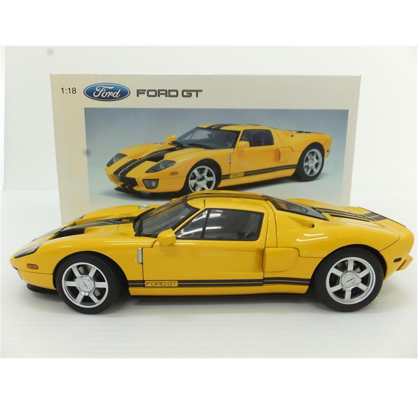 1円【中古美品】 AUTOart オートアート 1/18 FORD GT フォード イエローブラック 【88】