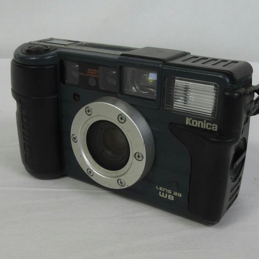 1円【ジャンク】 Konica コニカ フィルムカメラ LENS28WB 【70】