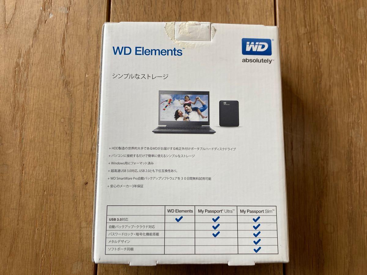 WD Elements 1TB ポータブル外付けHDDハードディスク