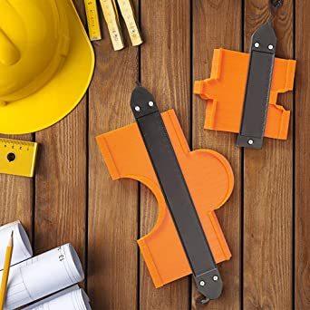 セルフロック式 型取りゲージ セルフロック式 コンターゲージ 高精度 曲線定規 DIY用測定工具 輪郭コピー 不規則な測定器 A_画像6