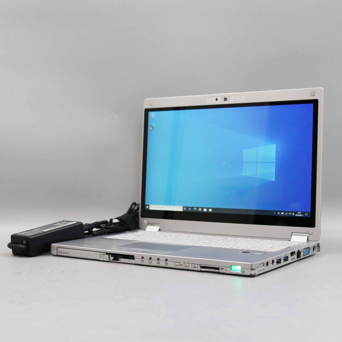 1円スタート タブレットPC Panasonic Let's note CF-MX5 CPU:Core i5-6300U/メモリ8GB/SSD256GB/OS:Win10 Pro