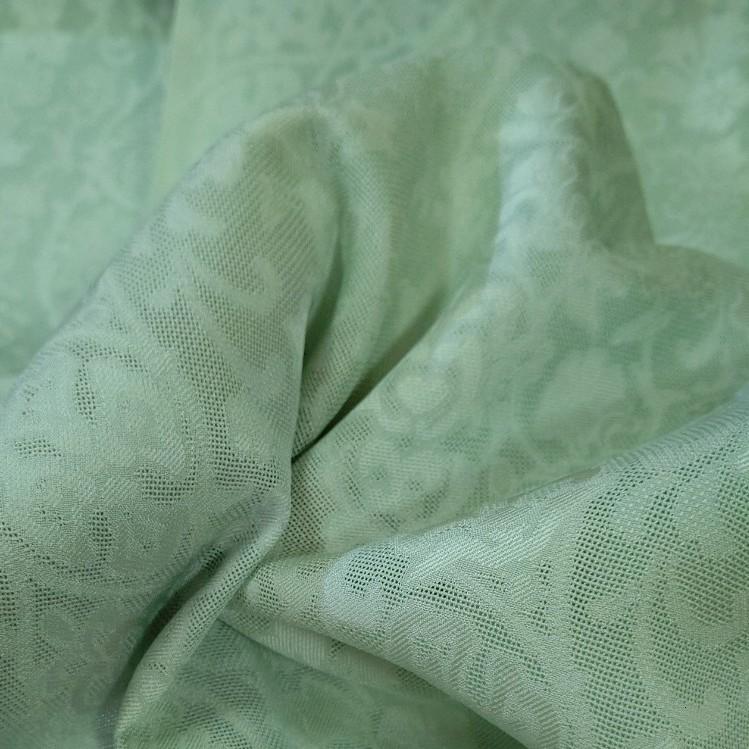 正絹 紋紗 黄緑色 無地 薄手 はぎれ ハギレ リメイク ハンドメイド
