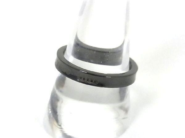 1円 ■極美品■ TIFFANY&Co. ティファニー 1837 ナロー チタン リング 指輪 アクセサリー 約20号 メンズ ダークグレー系 K8636Kk