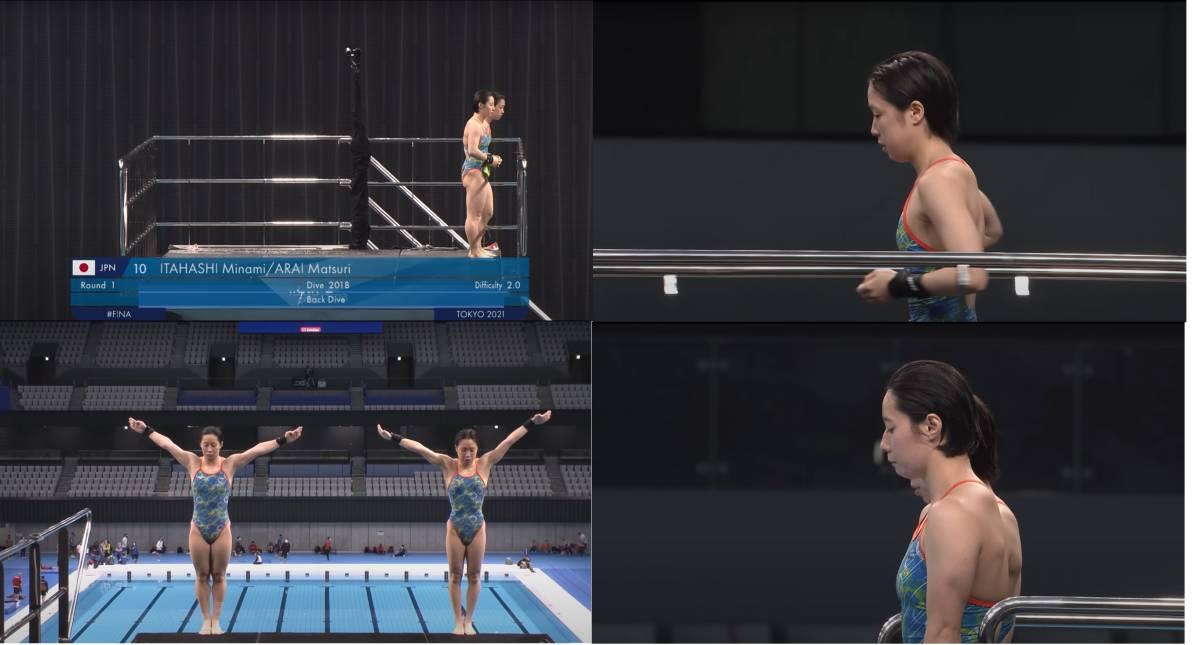 FINA(国際水泳連盟)公式2021水泳競技ワールドカップ東京大会・女子10mシンクロ飛込み公式映像ブルーレイ完全収録(パート1)_画像9
