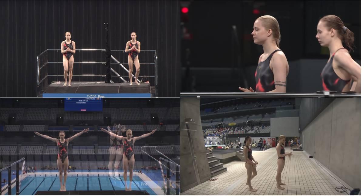 FINA(国際水泳連盟)公式2021水泳競技ワールドカップ東京大会・女子10mシンクロ飛込み公式映像ブルーレイ完全収録(パート1)_画像8