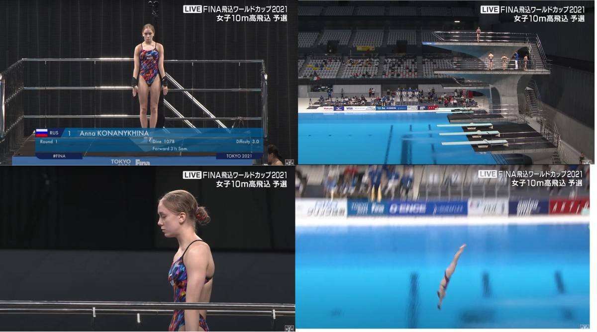 FINA(国際水泳連盟)公式2021水泳競技ワールドカップ東京大会「女子10m予選」公式映像ブルーレイ完全収録!_画像5