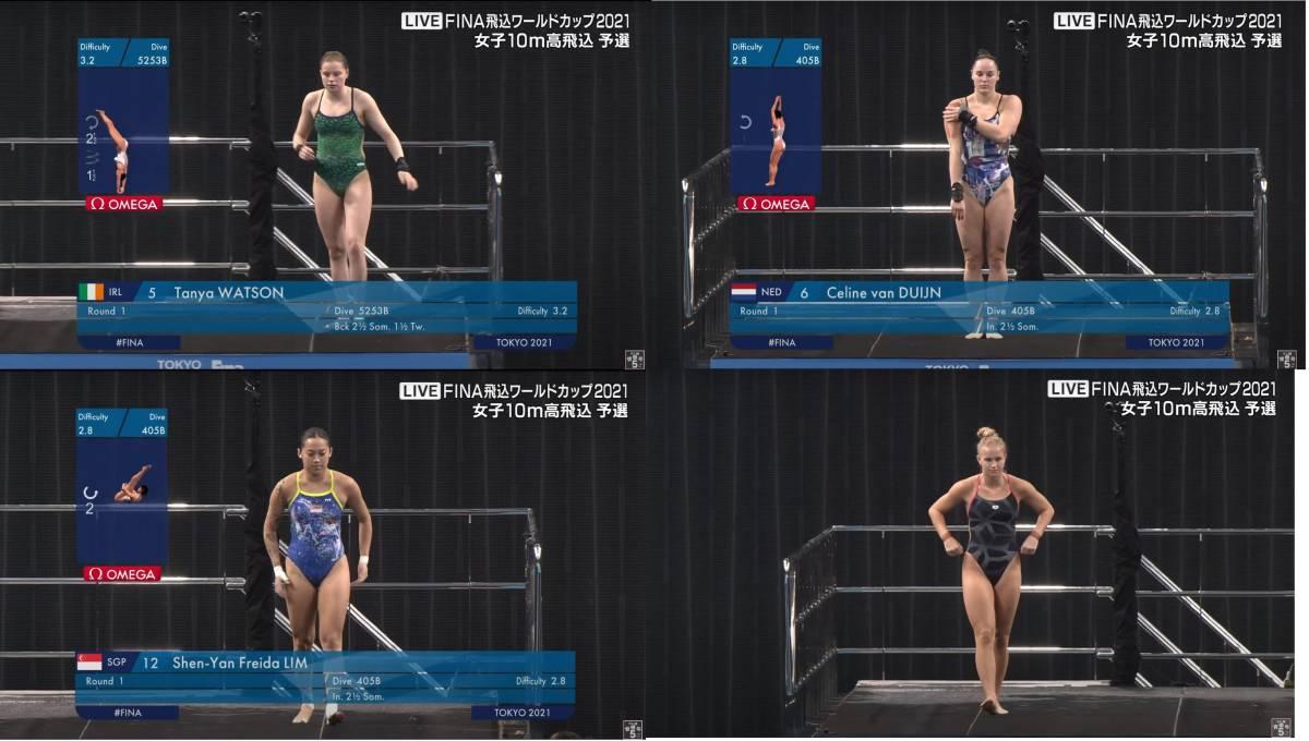 FINA(国際水泳連盟)公式2021水泳競技ワールドカップ東京大会「女子10m予選」公式映像ブルーレイ完全収録!_画像7