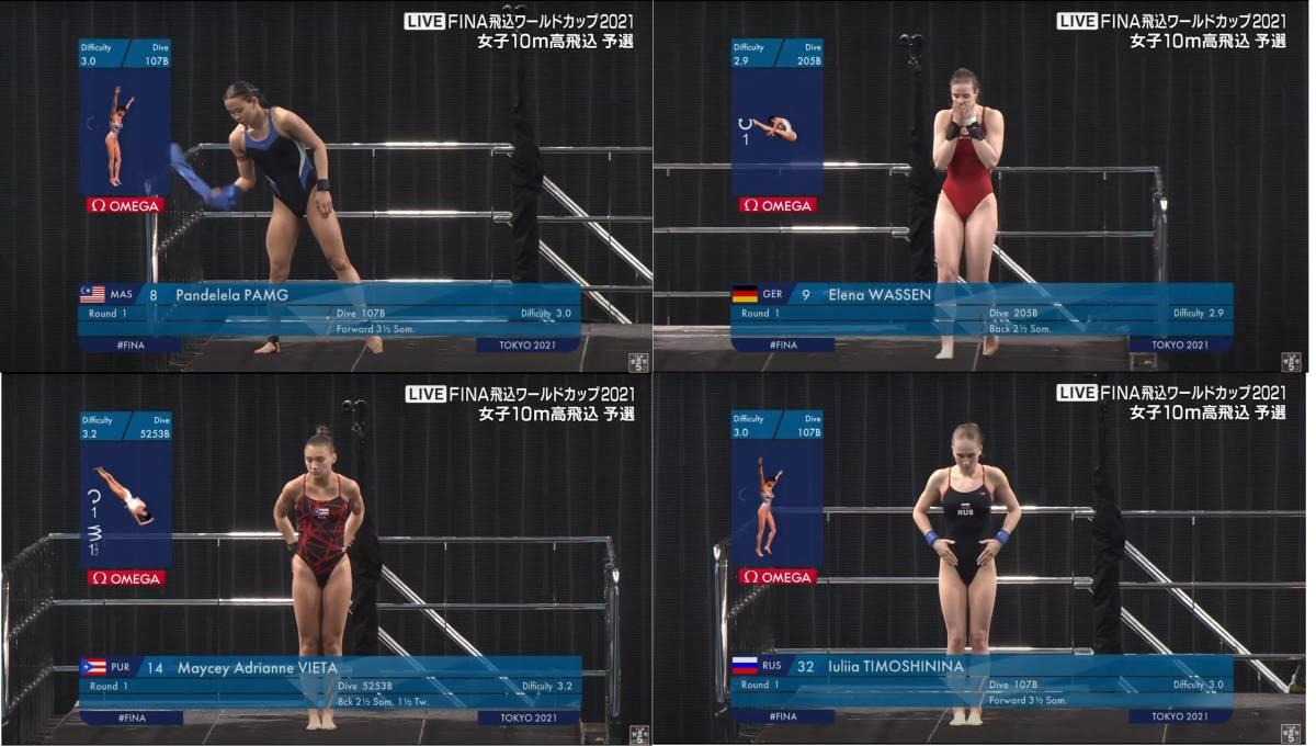 FINA(国際水泳連盟)公式2021水泳競技ワールドカップ東京大会「女子10m予選」公式映像ブルーレイ完全収録!_画像8
