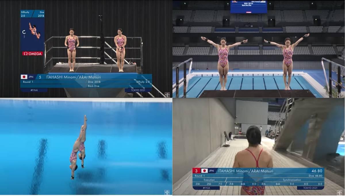 FINA(国際水泳連盟)公式2021年度飛込み競技ワールドカップ・東京大会「女子10mシンクロ決勝」公式映像ブルーレイ完全収録!_画像4