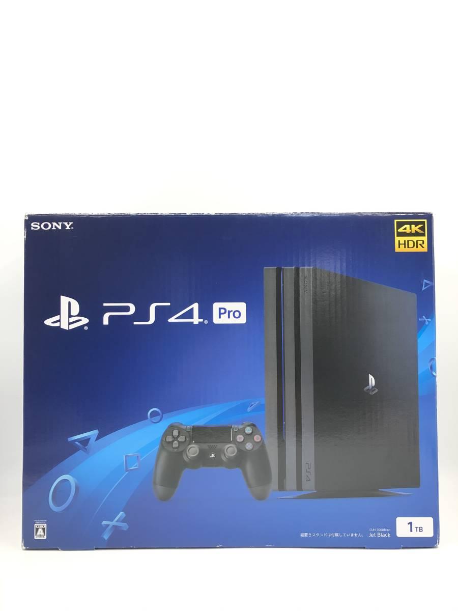 【超美品 完品】 PlayStation4 PRO ジェットブラック 1TB (CUH-7000B B01) 動作保証あ