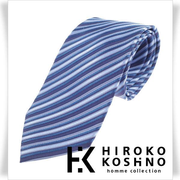 新品1円~★HIROKO KOSHINO ヒロコ コシノ 最高級♪シルク絹100%ネクタイ 織柄 正規店本物 ◆1679◆