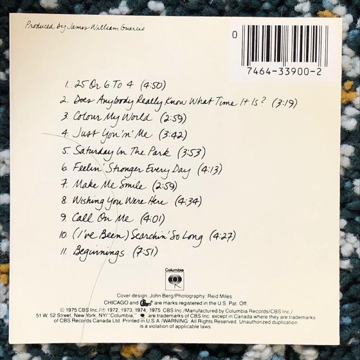 【ベスト盤CD】シカゴ/グレイテスト・ヒッツ