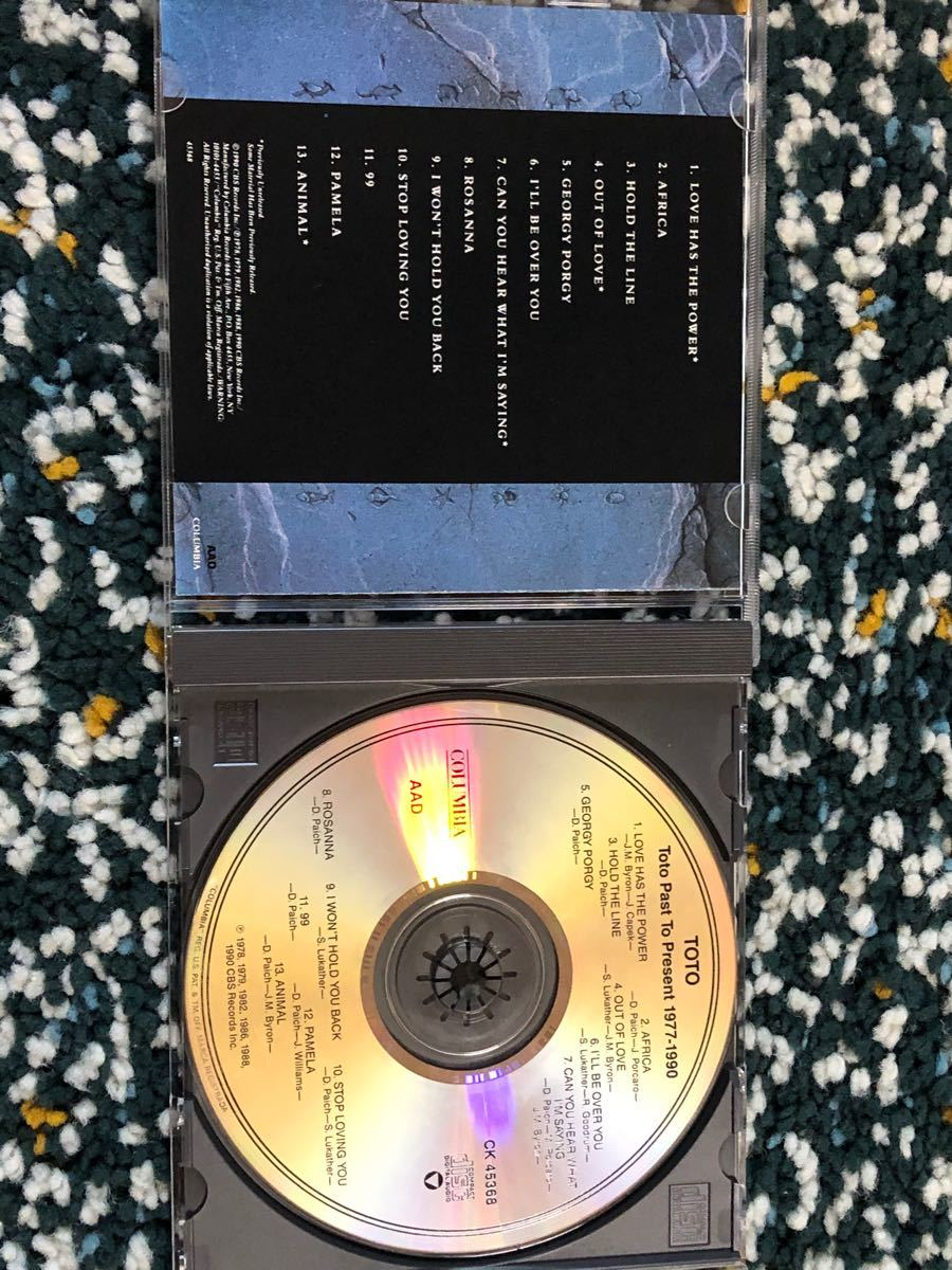 【国内盤ベストCD】TOTO『グレイテスト・ヒッツ - パスト・トゥ・プレゼント』