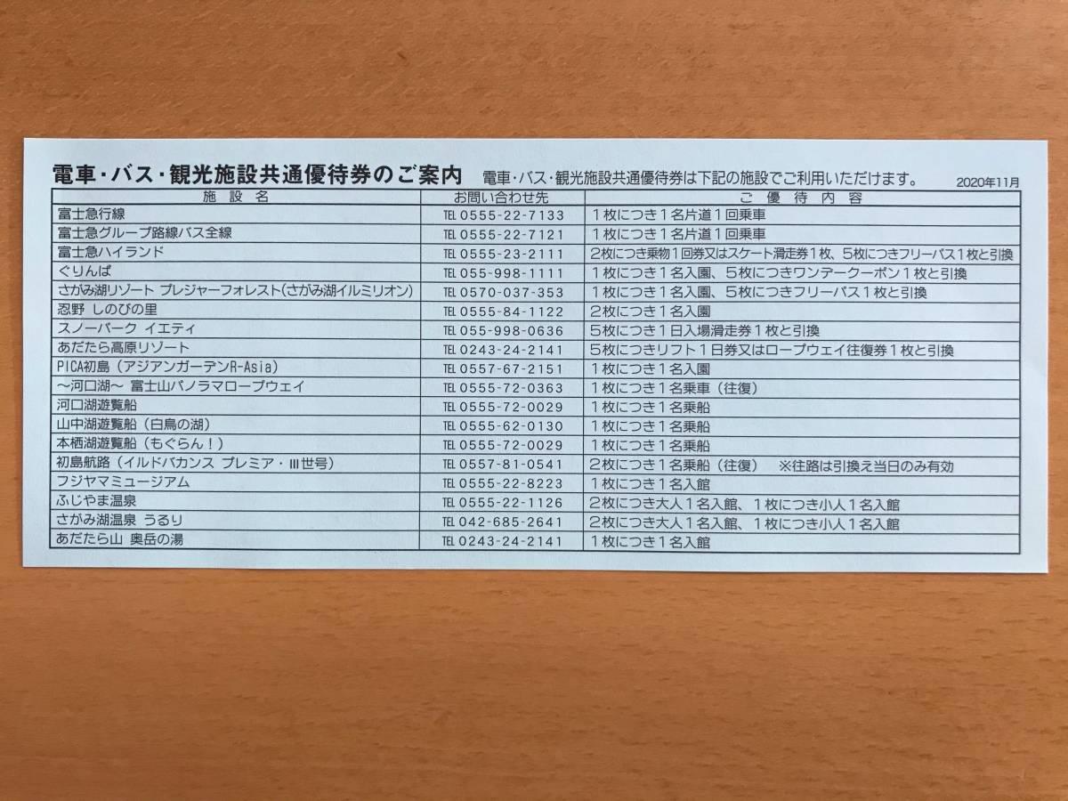 富士急行 株主優待券 10枚(富士急ハイランドフリーパス2枚分)+2冊_画像2